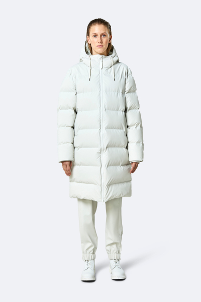 Long Puffer Jacket, 米白色