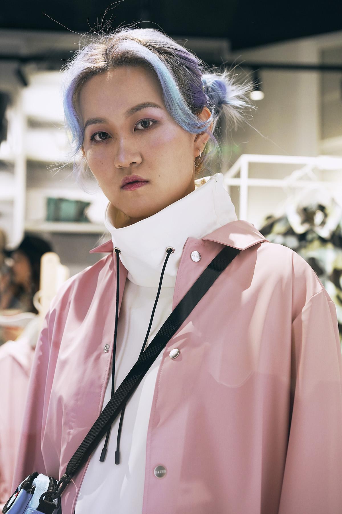 Rains Coach Jacket, 粉红色