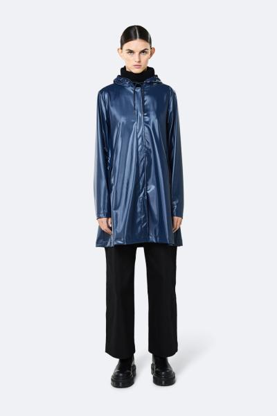 A-line Jacket, 亮面蓝色