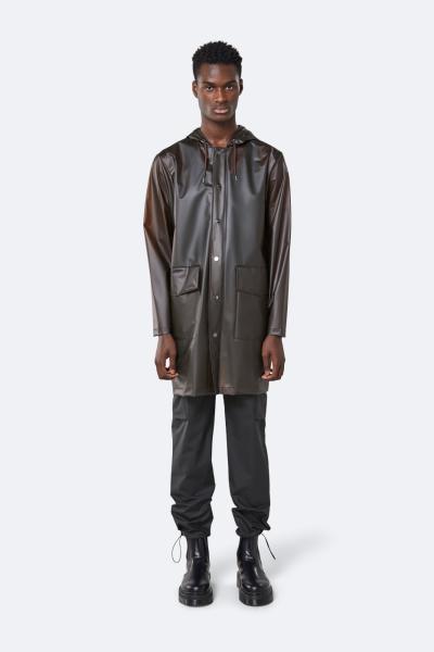 Transparent Hooded Coat, 雾面棕色