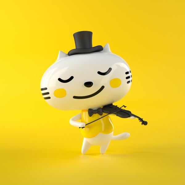 首席猫卡通形象-3