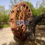 定制防腐木塑木水车 风水轮 流水摆件水车喷泉鱼池水车 木轮