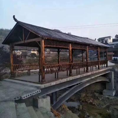 济南碳化木长廊