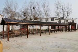 济南玉符河沿岸仿古长廊