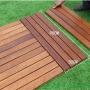 阳台地板防腐木户外庭院露台室外实木菠萝格DIY拼接木地板济南