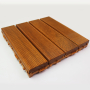 免漆实木菠萝格DIY拼花地板阳露台户室外防水防滑防腐木地板山东