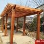 厂家直销防腐木碳化木廊架庭园改造凉亭葡萄花架阳台露台地板北京