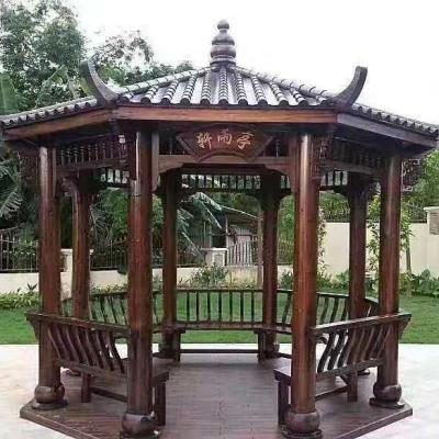 济南碳化木凉亭
