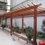 室外防腐木碳化木塑木 廊架 走廊 葡萄架花架 紫藤花架凉亭地板