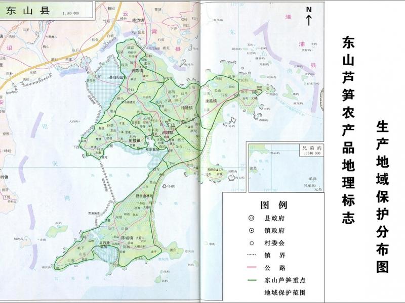 东山白芦笋分布图