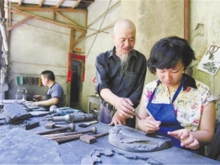 龙池砚手工艺者