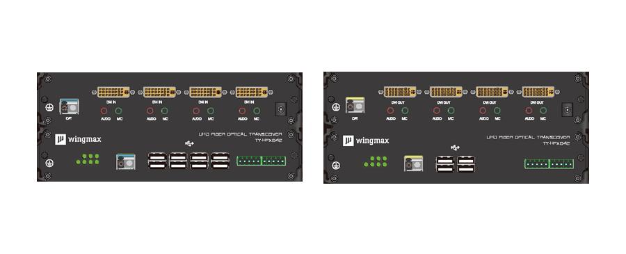 单纤四路DVI高清光端机面板