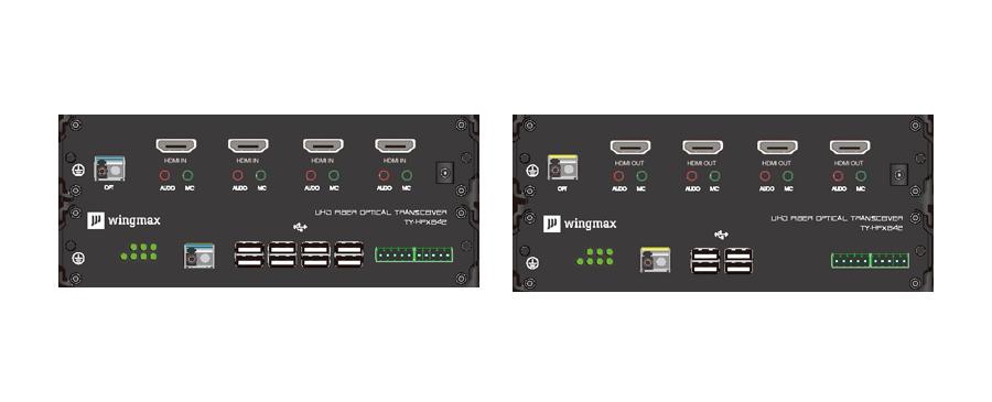 单纤四路HDMI高清光端机面板
