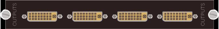 4路DVI-I输出卡