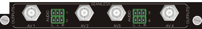 4O-AV,CVBS 无缝输入、输出信号卡