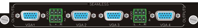 4O-VS,VGA 无缝输出信号卡