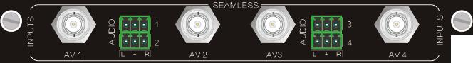 4I-AV,CVBS 无缝输入、输出信号卡