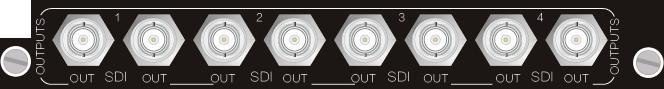 输 出 信 号 格 式 均 支 持 SDI 、 HD-S DI 、 3G -S DI 频 带 宽 可 达 到 150M Hz (-3dB) SDI 输 出 端 需 配 合 S DI 信 号 转 换 器 使 用