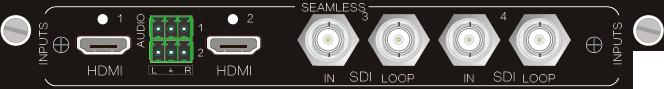 4I-SH,HDMI&SDI 无缝输入、输出信号卡