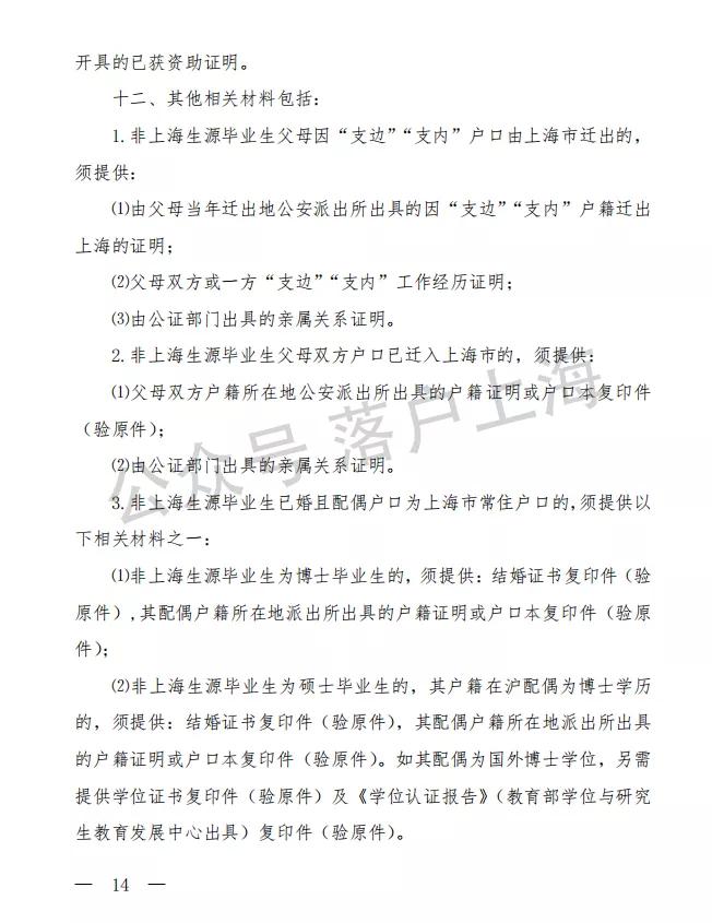 2021年应届生上海最新落户条件、时间出来了