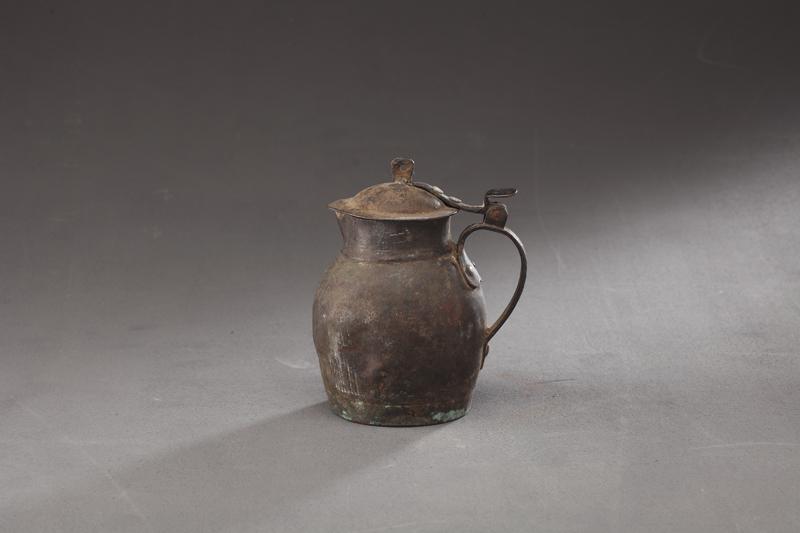 D15-022_铜质有盖煎药壶_清代