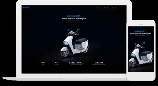 藍鯊智能電動摩托車