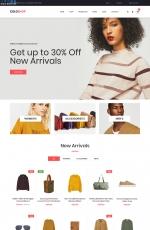 2019年HTML5/CSS3灰色红色服装商城模板