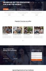 免费大气深绿色白色教育网站模板
