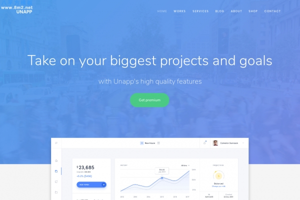 大气bootstrap湖水绿色白色应用企业网站模板