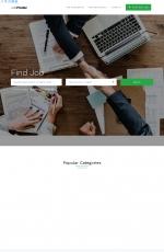 大气高端灰色白色求职招聘平台网站模板