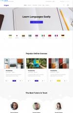 Bootstrap响应式水绿色红色教育行业网站模板