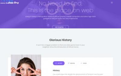 高端HTML5/CSS3湖水绿色灰色个人项目展示网站模板