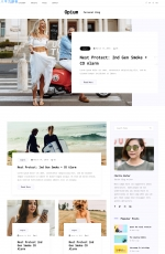 源码大气浅灰色白色个人时尚博客网站模板
