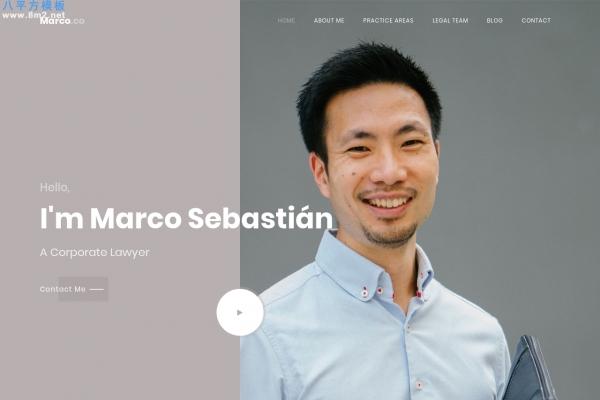 HTML5/CSS3湖水绿色灰色律师行业整站模板