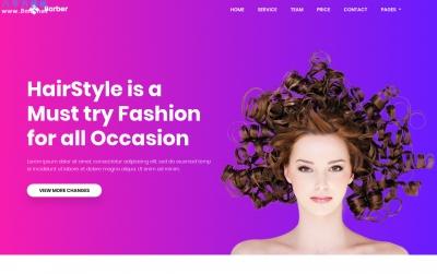 大气响应式灰色白色发型设计网站模板