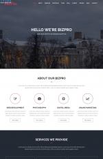 大气精美灰色白色商务企业网站模板