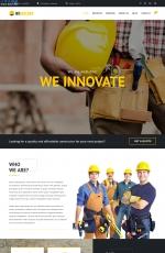 开源2019年灰色白色建筑公司网站模板