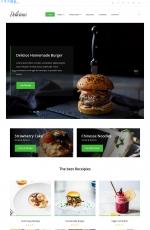免费高端湖水绿色灰色美食博客网站模板