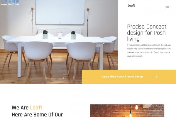 2019年PC/手机海蓝色灰色室内设计网站模板