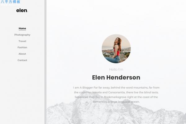 精品bootstrap浅灰色白色个人博客网站模板
