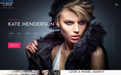 开源bootstrap灰色白色时尚模特网站模板