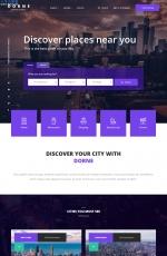HTML5/CSS3蓝色白色旅游分类目录网站模板