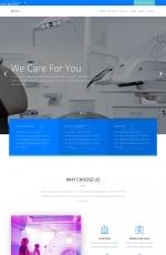 bootstrapPC/手机湖水绿色白色医院网站模板