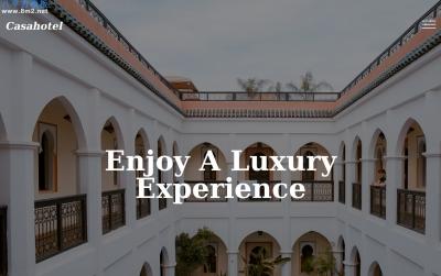 免费精美白色米色酒店预定网站模板