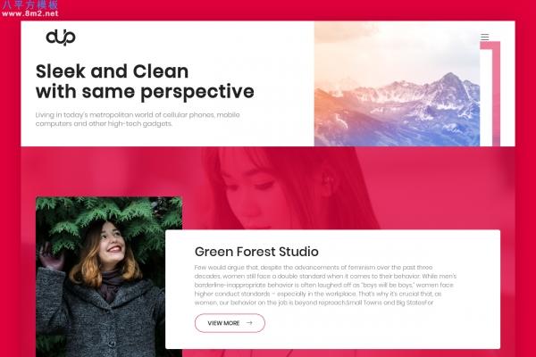 精品bootstrap浅褐色白色创意企业网站模板