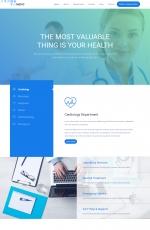 开源HTML5/CSS3湖水绿色灰色医学网站模板