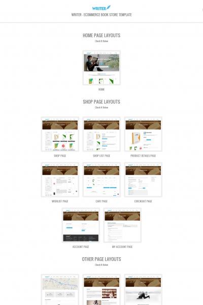 HTML5/CSS3亮青色湖水绿书店商城网站模板