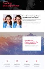 源码HTML5/CSS3玫瑰红色白色个人网站模板