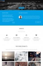 精美HTML5亮青色灰色响应式企业官网模板