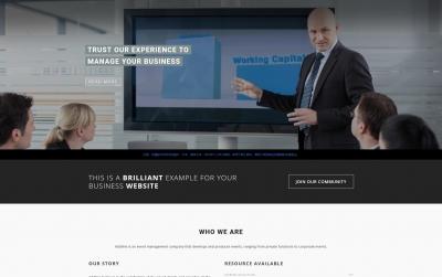 HTML5精品灰色白色项目展示企业网站模板